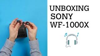 Unboxing/déballage : écouteurs à réduction de bruit Sony WF-1000X
