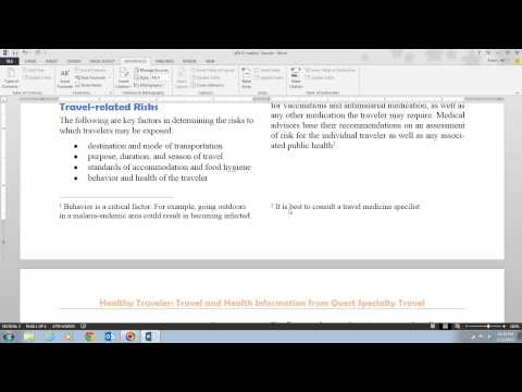 Word 2013 Unit D Video 7 - Add Footnotes and Endnotes