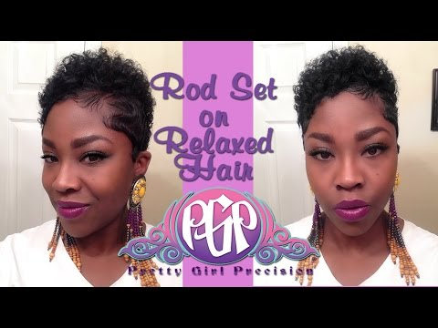 Rod Set|Relaxed Hair