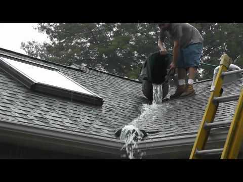 Roof Valley Rain Water Diverter Tests www.roofvalleywaterdiverter.com