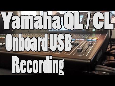 Yamaha QL5/CL onboard USB Recording