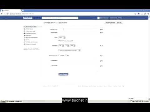 how to change a basic info facebook