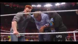 Brock Lesnar breaks Triple H