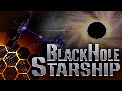 A Black Hole Engine to Power a Starship