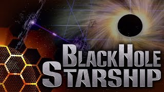 A Black Hole Engine to Power a Starship