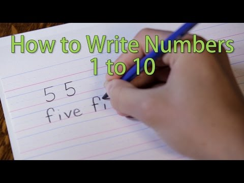 How to Write From 1 to 10 - Kids Learn the Numbers