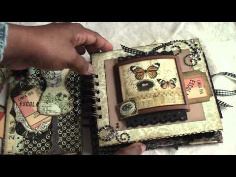 Scrapbooking:Vintage Paperbag mini album