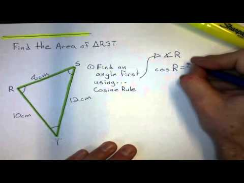 Using Trigonometry to find the Area of a Triangle