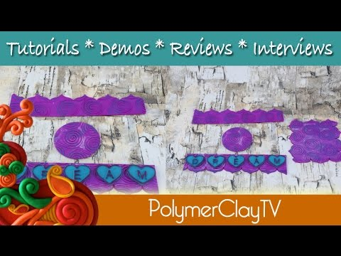 New Fun Swirl Texture Rods and Fun Heart Mold on Polymer Clay TV