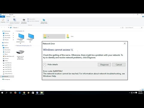 How to Fix Network Error Windows Cannot Access In Windows 10/8.1/7