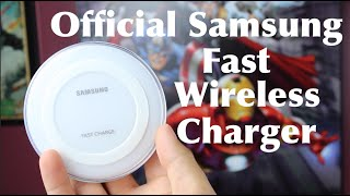 Official Samsung Fast Wireless Charger Note 5 30 Minute Charge Test and Full Review