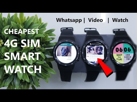 Cheapest Android Smartwatch with 4G Sim Support, Whatsapp, Camera, Music, Wifi, Calls, Youtube