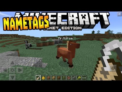 NAMETAGS, HORSES & MORE!!! - MCPE 0.15.0 News Update - Minecraft PE (Pocket Edition)