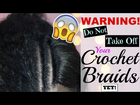 😱 You won't believe what she did to her CROCHET BRAIDS AFTER 6 WEEKS! 🙌🏼