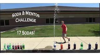 MENTOS & SODA CHALLENGE - 17 SODAS! | COLLINTV