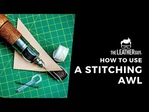 How to Use the Stitching Awl