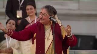 PM Modi watches Ekla Chalo Re presented by Usha Uthup in Kolkata