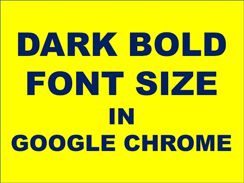 How To Change Font Size In Google Chrome?