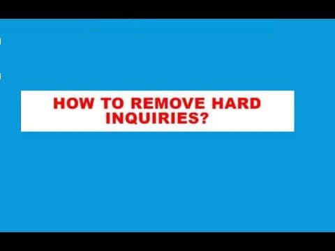 HOW TO REMOVE HARD INQUIRIES IN 20 DAYS