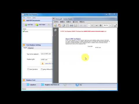 PDF Search and Replace Software - Search and Replace PDF Text Content