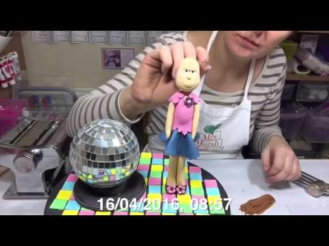 Disco and Flute Cake with a Little Girl
