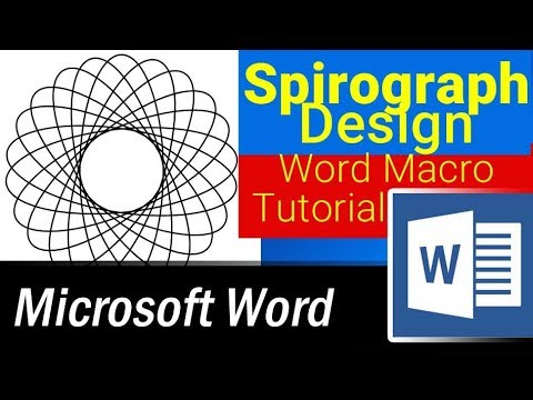 How to create Spirograph Designs in Microsoft Word using Word Macros or VBA