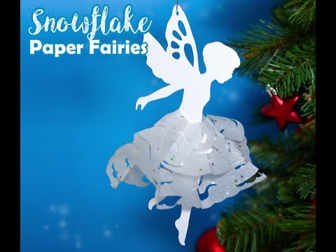 Snowflake Paper Fairies