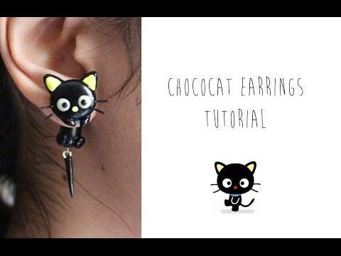 Polymer Clay Earrings Tutorial: Chococat from Sanrio