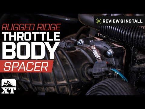 Jeep Wrangler Rugged Ridge Throttle Body Spacer (2007-2017 JK) Review & Install