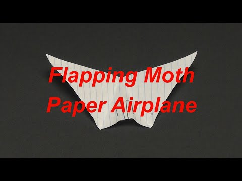 Flapping Moth Paper Airplane