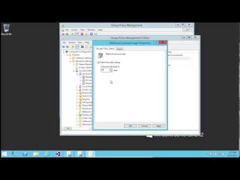 Windows Server 2012 R2 Setting Active Directory User Password Policy (GPO) Tutorial