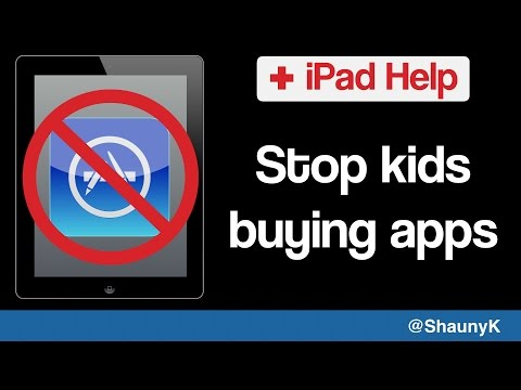 iPad Help - Stop children buying apps or in app purchases in the app store
