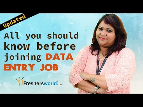 All you should know before joining a Data Entry Job - Entry Level,Database,WPM, Data Management
