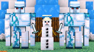 Villager vs Pillager Life Winter War 5 - Alien Being Minecraft Animation