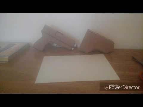 Gun Holster made out of cardboard