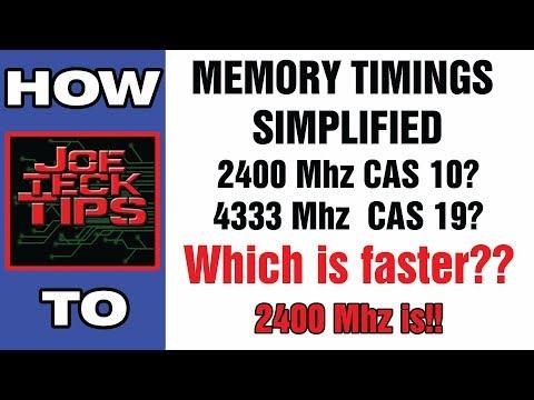 Memory Timings Simplified   How to Pick the correct RAM   JoeteckTips