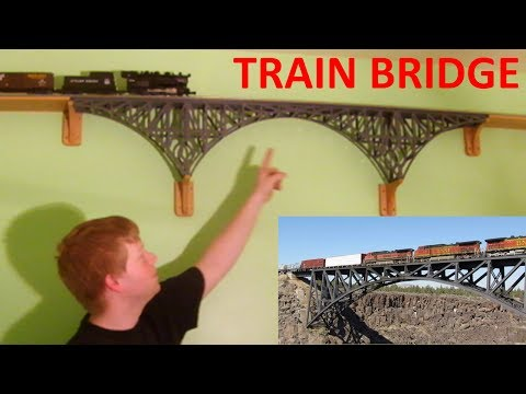 Building a Model Train Bridge from a Photo
