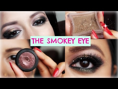 Party Smokey Eye Makeup Tutorial for Green Eyes and Brown Eyes