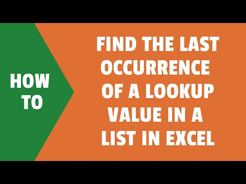 Find the Last Occurrence of a Lookup Value in a List in Excel