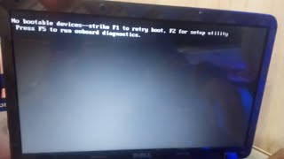 How to Fix Dell No Bootable Device Found / No Boot Device