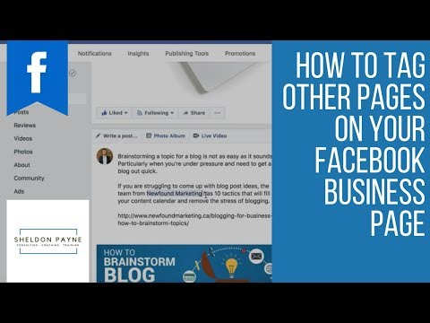 How to Tag Other Pages on Your Facebook Business Page (Timeline)
