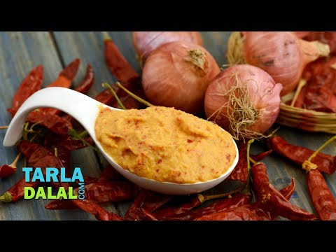 Spicy Onion Chutney Recipe, South Indian Chutney by Tarla Dalal