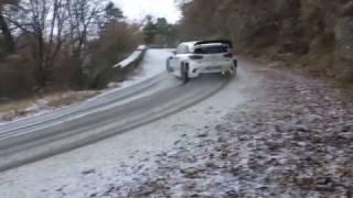 Test pré Monté-Carlo Hyundai i20 WRC 2017 ( Dani Sordo ) et Hyundai I20 R5 ( Kevin Abbring )