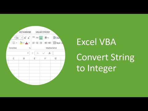 Excel VBA - How to Convert String to Integer