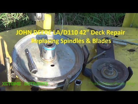John Deere LA110 42in Deck Repair Replace Spindles And Blades REUPLOAD