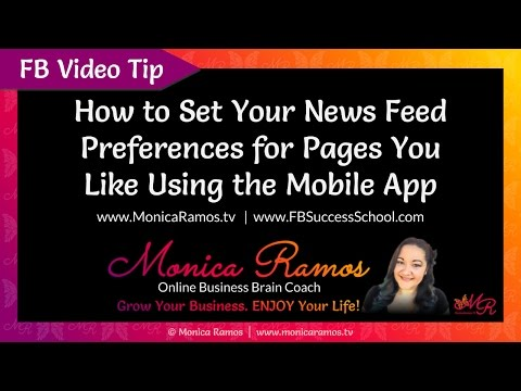 Manage Your Facebook News Feed Preferences From Your Phone (FB Mobile App)