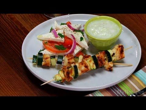 Chicken Souvlaki with Tzatziki Sauce Recipe