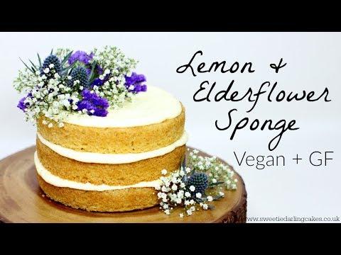 Vegan Lemon and Elderflower Cake Recipe