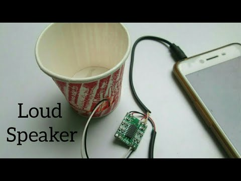 how to make a loud speaker at home (using paper cups)