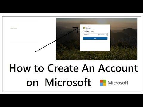 How to Create an Microsoft Account 2018